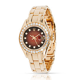 Rolex Pearlmaster 69298 Women's Watch in 18kt Yellow Gold