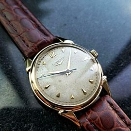 Mens Longines Cal.23 34mm 14k Gold Hand-Wind Dress Watch, c.1960s Swiss LV818