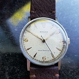 Mens Rolex Ref.3742 33mm Hand-Wind Military Watch c.1930s Rare Vintage MS101