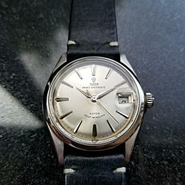 Mens Tudor Prince Oysterdate 7966 Small Rose 34mm Automatic c.1950s Swiss MS119