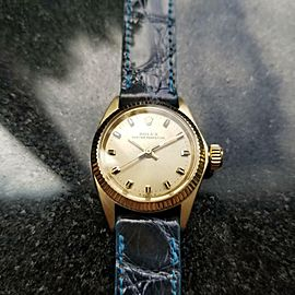 Ladies Rolex Oyster Perpetual 6619 24mm 14k Gold Automatic, c.1960s Swiss MS141