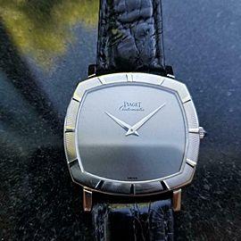 Mens Piaget 12423 33mm 18K White Gold Automatic Dress Watch c.1960s Swiss MS208