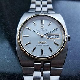 Mens Omega Constellation 36mm Day Date Automatic w/18k Bezel, c.1970s MX101