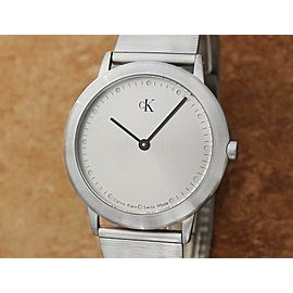 Mens Calvin Klein K3411 34mm Quartz Dress Watch, c.1990s Swiss Made X1062
