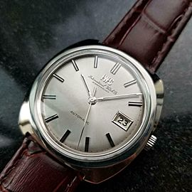 Mens IWC Schaffhausen 36mm Automatic w/Date Dress Watch, c.1970s Swiss NS22BRN