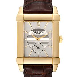 Patek Philippe Gondolo Small Seconds Yellow Gold Silver Dial Watch 5111J