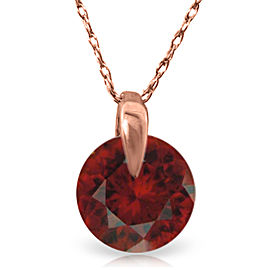 1 CTW 14K Solid Rose Gold Sundisk Garnet Necklace