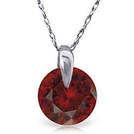 1 CTW 14K Solid White Gold Don't Rush Love Garnet Necklace