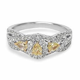BRAND NEW Yellow Diamond Ring in 14K White Gold