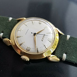 Mens Rolex Precision 35mm Gold-Capped Hand-Wind Dress Watch, c.1950s MA179GRN