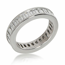 Tiffany & Co. Baguette Diamond Eternity Band in Platinum 2.32 CTW
