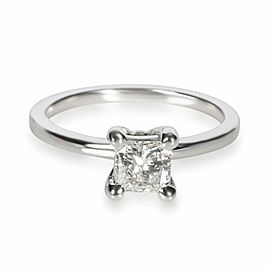 GIA Certified Radiant Diamond Engagement Ring in 14KT White Gold E VVS1 0.61 Ct