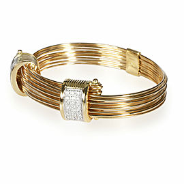 Links of London Diamond Multi Strand Wire Bracelet in 18K Yellow Gold 0.84 CTW