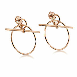 Hermès Small Model Loop Earring in 18K Rose Gold