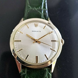 Mens Rolex 7002 35mm 14k Gold-Filled Automatic, c.1970s w/box & Paper MA196GRN