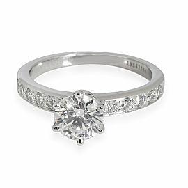 Tiffany & Co. Diamond Engagement Ring in Platinum F VS2 1.19 CTW