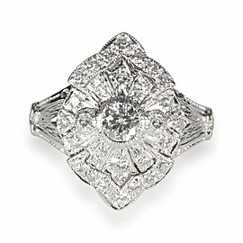 Vintage Inspired Diamond Ring in 18K White Gold 0.50 CTW