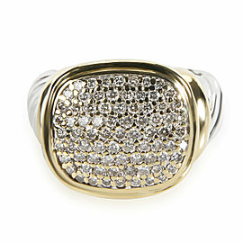 David Yurman Noblesse Diamond Ring in 18K Yellow Gold/Sterling Silver 0.90 CTW