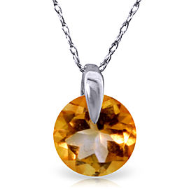 0.8 CTW 14K Solid White Gold Castles Not In Air Citrine Necklace