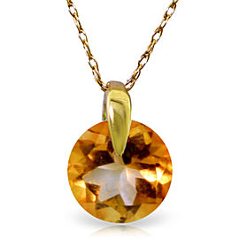 0.8 CTW 14K Solid Gold Love Of My Life Citrine Necklace