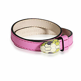 Bulgari Serpentini Forever Bracelet in Pink Leather