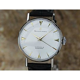 Seiko Laurel Manual Made in Japan 1960s 33mm Vintage Stainless St Mens Watch MO9