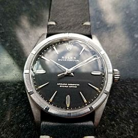 Mens Rolex Oyster Perpetual Ref.1007 34mm Automatic, c.1960s Vintage LV921BLK
