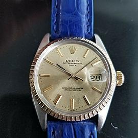 Mens Rolex Oyster Perpetual Date 1505 35mm 18K & SS Automatic, c.1970s RA136BLU