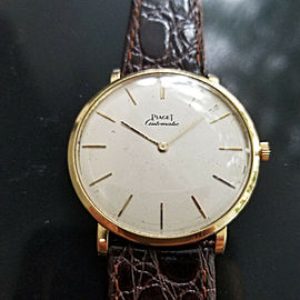 Mens 1960s Piaget 35mm 18k Gold cal.12P1 Automatic Dress Watch Swiss MA169