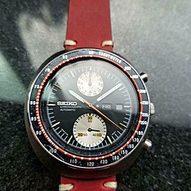 Mens Seiko Yachtman UFO 1970s 40mm Day Date Automatic Chronograph GG42RED