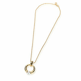 Vintage Cartier Pearl Necklace in 18K Yellow Gold
