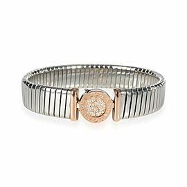 Bulgari Bvlgari Bvlgari Diamond Bracelet in 18K 2 Tone Gold 0.15 CTW