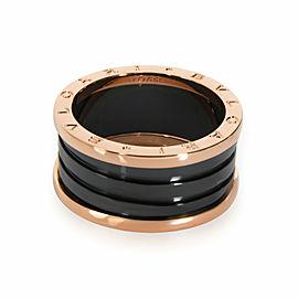 Bulgari B.Zero 1 Black Ceramic Band in 18K Rose Gold