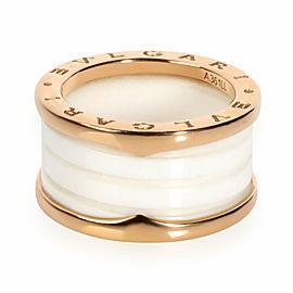 Bulgari B.zero1 Ceramic Ring in 18K Rose Gold