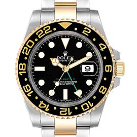 Rolex GMT Master II Yellow Gold Steel Automatic Mens Watch 116713