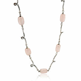Tiffany & Co. Rose Quartz Necklace in Sterling Silver