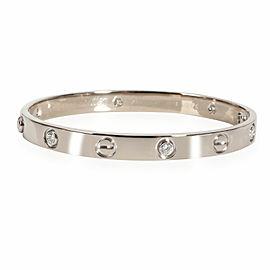 Cartier LOVE Bracelet with Diamonds in 18K White Gold 0.50 CTW