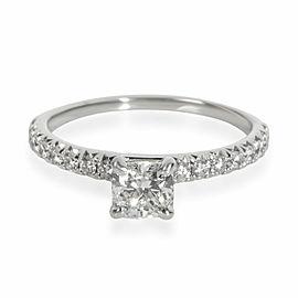 Blue Nile Diamond Engagement Ring in 14K White Gold GIA Certified F VVS1 0.86CTW