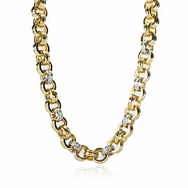 Theo Fennell Diamond Link Necklace in 18K 2 Tone Gold 2.52 CTW