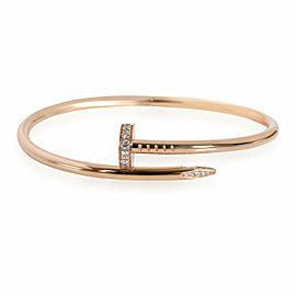 Cartier Juste un Clou Diamond Bracelet in 18K Pink Gold 0.59 CTW