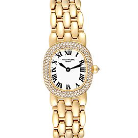 Patek Philippe Golden Ellipse Yellow Gold Diamond Ladies Watch 4831