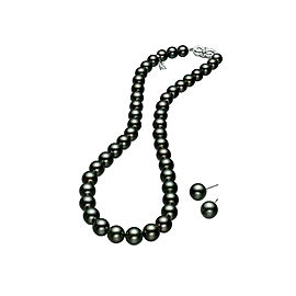 Mikimoto MNS09516BRV02961 & PES 902BV W 18k White Gold Pearl, Diamond Necklace