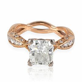 Tacori Diamond Engagement Ring in 18K Rose Gold GIA Certified G SI2 2.37 ctw