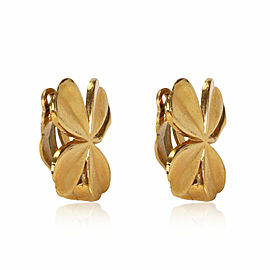 Vintage Chanel Fall 1994 Clover Clip On Earrings