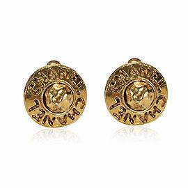 Chanel Vintage Gold Tone Earrings