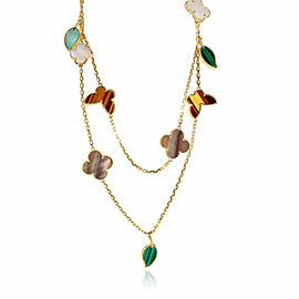 Van Cleef & Arpels Lucky Alhambra Necklace in 18K Yellow Gold
