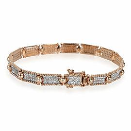 Kismet by Milka Diamond Sectioned Beaded Bracelet in 14K Rose Gold 1.32 CTW