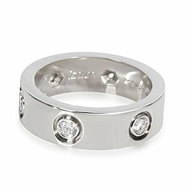 Cartier Love Diamond Band in 18K White Gold 0.46 CTW