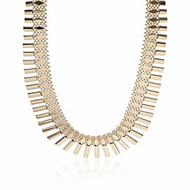 Geometric Fringe Necklace in 18K Yellow Gold