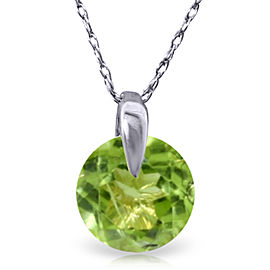 1 CTW 14K Solid White Gold Unchain My Mind Peridot Necklace